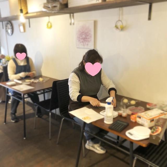 【開催報告】カフェCORTE様「フライパンでこんなに美味しく出来た!」さくらあんぱん作り