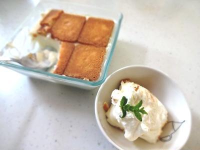 失敗~(汗)裏技レアチーズケーキ風