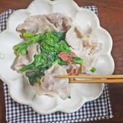 花粉症におすすめレシピ  豚しゃぶと菜の花の酢味噌和え