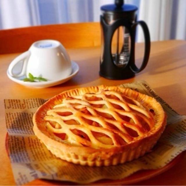 秋の*カスタードアップルパイ