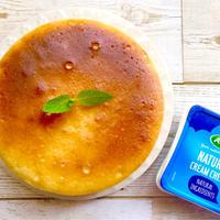 【簡単】フワシュワ口溶けの半熟スフレチーズケーキ♡