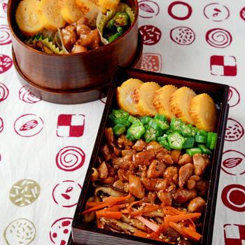 【今日のおべんと】鶏のっけ弁当&のっけない弁当