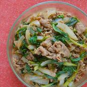 牛肉とセロリの葉の旨辛スパイス炒め