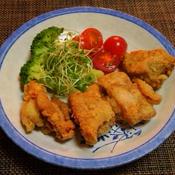 バジル風味の鶏肉の唐揚げ