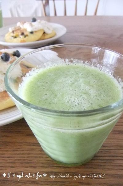 今朝のゴーヤジュースのレシピです!