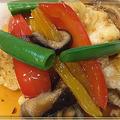 カジキマグロの彩り野菜の甘酢あんかけ