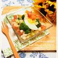 ブロッコリーと茹で卵のサラダ ~ ラヴィゴットソース風ドレッシング