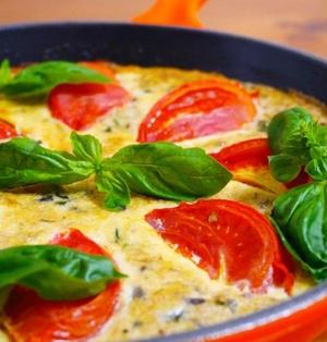 さば水煮のトマトフリッタータ♪簡単スキレットレシピ【洋風おせち】【クリスマス】