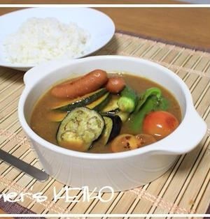 すごい大群!! ~レシピは旨みたっぷり♪『夏野菜のスープカレー』です~
