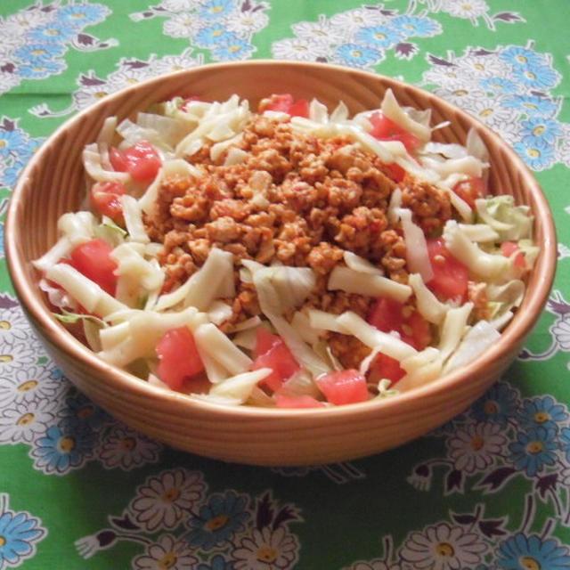 豆腐でつくるヘルシータコライス