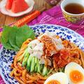 韓国ビビン麺風♪和えるだけで簡単!旨辛豚しゃぶ冷やしうどん!連載