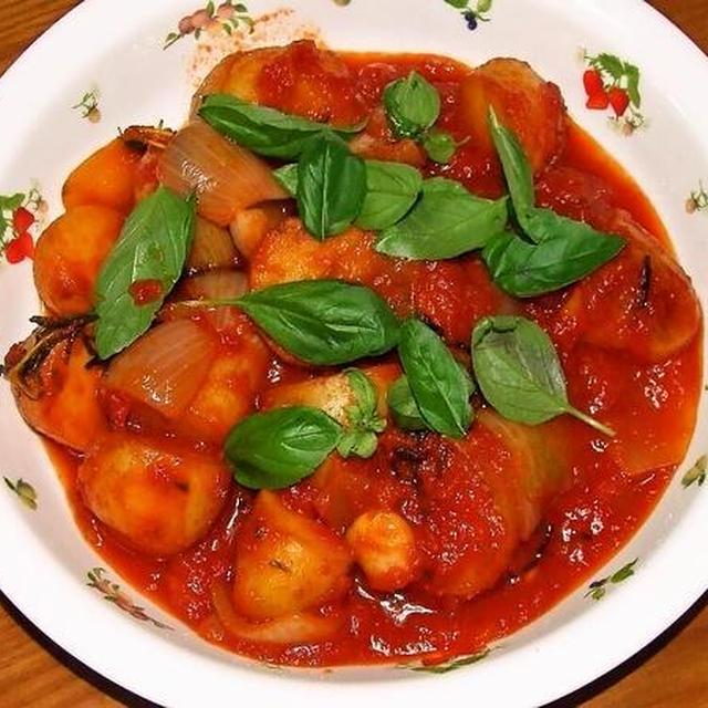 新ジャガのトマト煮&鶏つくねの中華煮