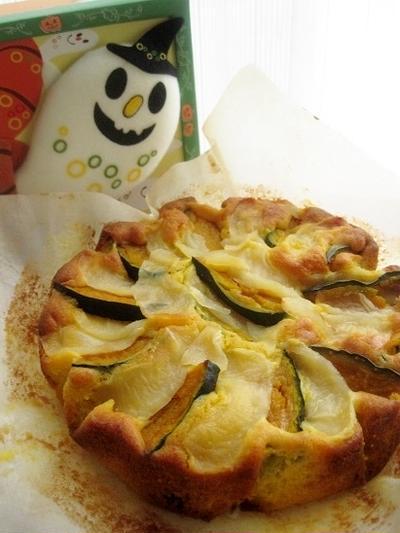 リンゴと南瓜の焼きケーキ