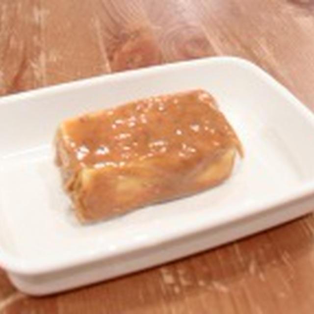 豆腐のメープル味噌漬け