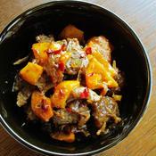牛レバーとピーマンのピリ辛炒め煮