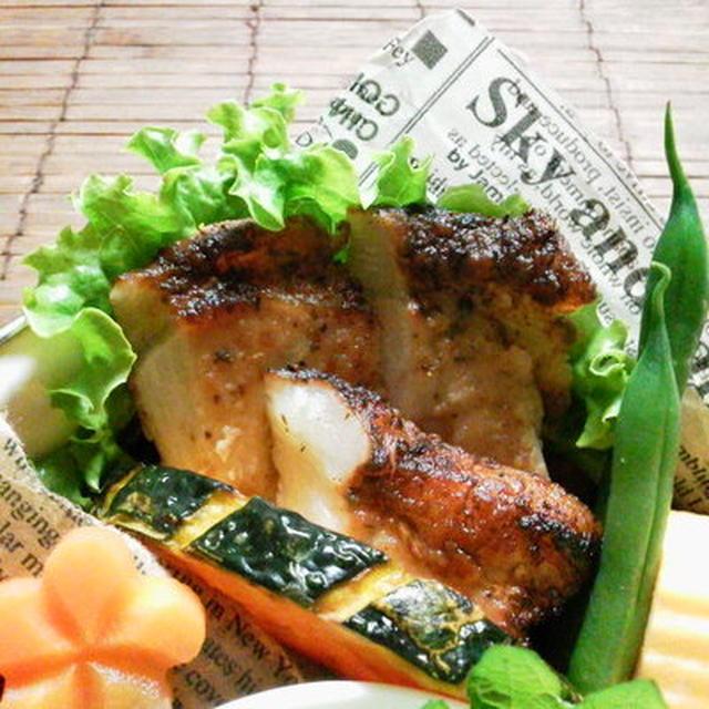 ポークソテー(柿、ワイン、醤油マリネ)