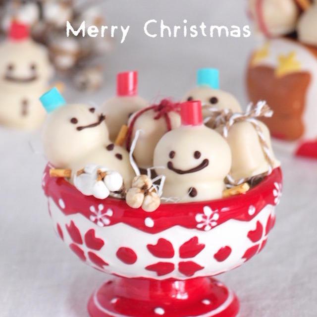 《レシピ》雪だるまのケーキポップス