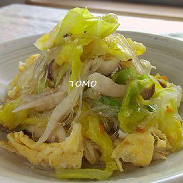 韓の食菜 塩チャプチェ de キャベツと卵の塩チャプチェ