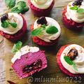 お砂糖なし☆紫芋とヨーグルトのカップケーキ