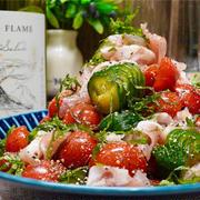 【レシピ】トマトときゅうりのにんにくポン酢漬け