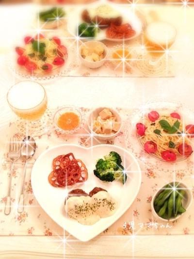 ホワイトソースハンバーグ☆レシピ