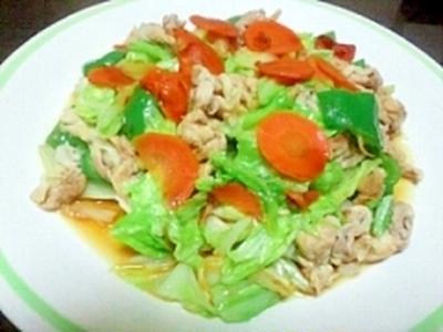 肉たっぷり塩麹野菜炒め