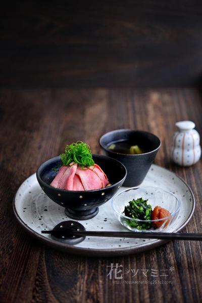 「ローストビーフ丼」