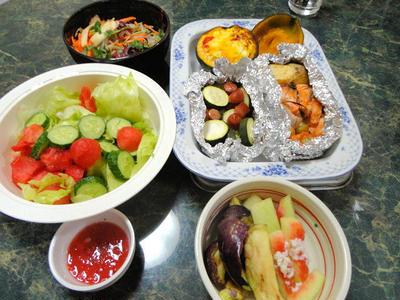 7月31日☆さぁ8月!夏だ☆すいかの季節だよ。簡単お料理ばかり全6品☆すいかのサラダもあるヨ
