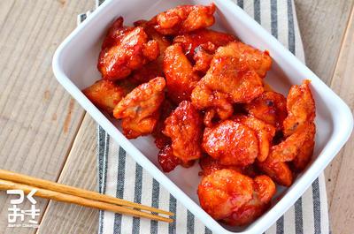 また食べたくなる。韓国風甘辛チキン(ヤンニョムチキン)