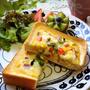 カラフルチーズオムレツトースト