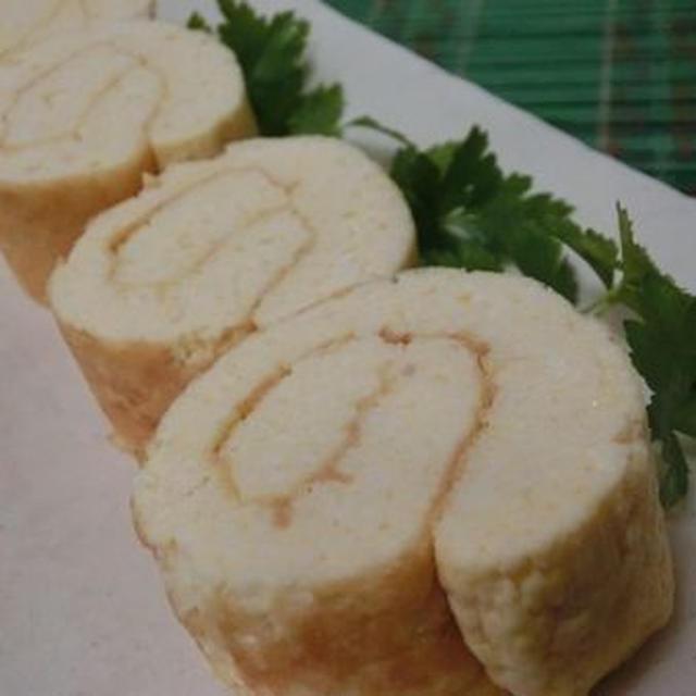 チーズ味噌でコク出し♪ 玉子焼き器で焼く☆ 豆腐で甘くない伊達巻き