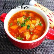 旨味たっぷり具沢山♪魅惑のレッドカレースープ
