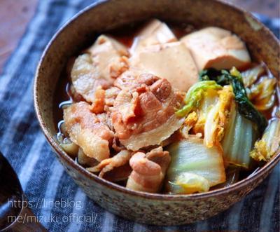 ♡10分煮るだけ♡豚肉と白菜のすき煮♡【#簡単レシピ#煮物#豆腐#節約】