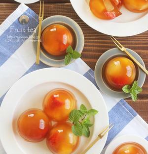 【レシピ】フルーツティー水まんじゅう。