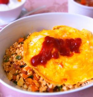 糖質制限! 豆腐ご飯のオムライス風 & 低糖質なケチャップ
