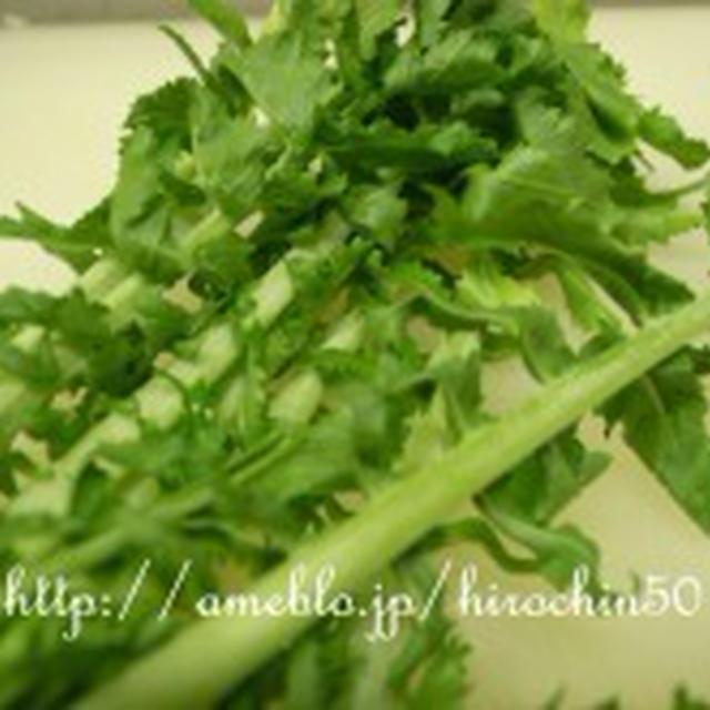 大根菜とセロリのクリームパスタ