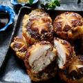 プリプリ海老と烏賊とえのき茸のしいたけの詰め物プリシャキサツマ揚げフライ