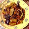 中華風茄子のミートソース炒め