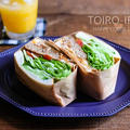 ボリューム満点!ハンバーグサンドイッチと今日のレシピ