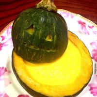 ハロウィンに♪♪とろとろ♪かぼちゃプリン