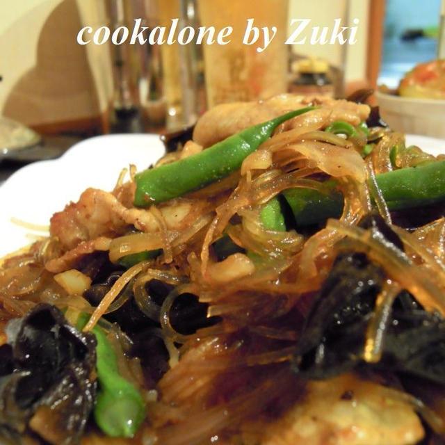 豚肉と春雨のカレーオイスター炒め