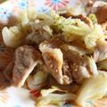 <豚肉とキャベツのこっくりオイスター炒め>