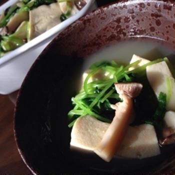 「高野豆腐とエリンギひたし」