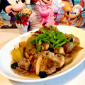 豚バラのさつまいもとりんごの甘酒ジャム風ソース煮込み