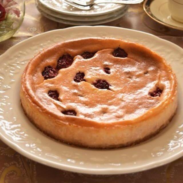 ブラックベリーのチーズケーキ