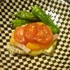 トマトチーズの柔らかポークソテー