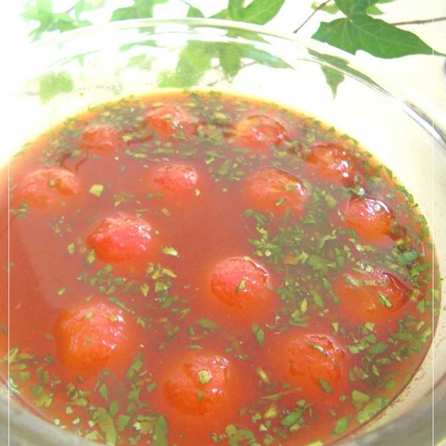 あっという間に出来るトマト素麺