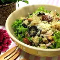 簡単夕食☆玄米でサラダライスボウル♪
