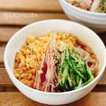 夏野菜たっぷり、冷たいたぬきうどんレシピ! 〜コスパ最高!リピートしている乾燥うどん〜