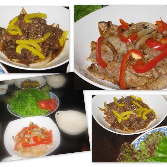 韓国風の焼き肉2種